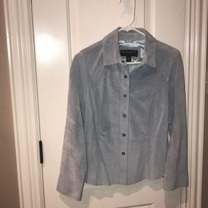 Size 10p women's Bernardo Suede mint green jacket